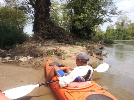 Kayaking in Cambodia. Eco, sure. But responsible. That's a question...