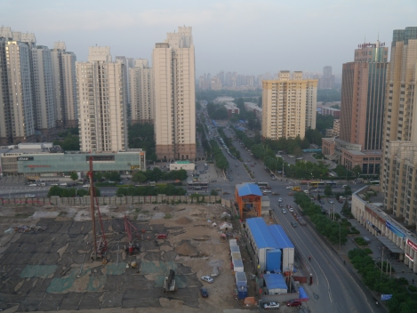 the view from my Beijing flat I called 'home' for a month. The only time I really stopped with breath.