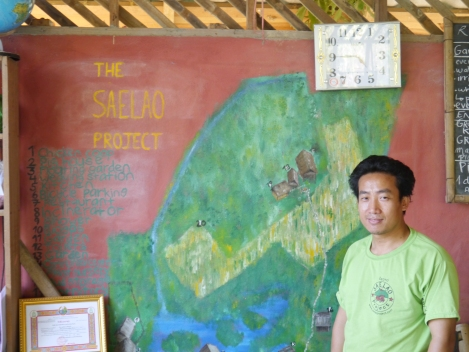 Bob - at the home of the Sae Lao project in Vang Vieng