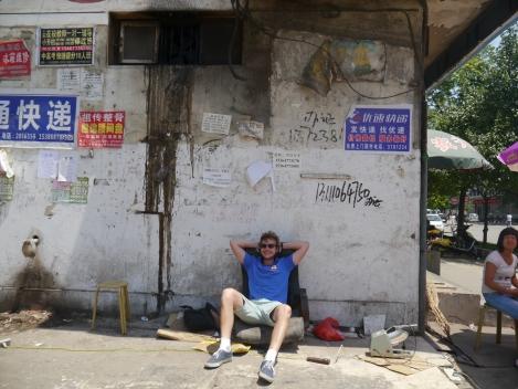 soakin' in the rays in Linfen
