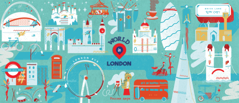 the recently completed artwork for WorldinLondon